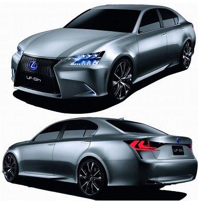 Présentation du concept-car Lexus LF-GH Hybrid  de 2011.