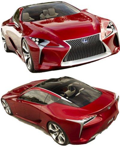 Présentation du concept-car Lexus LF-LC Hybrid Sport Coupé Concept de 2012..